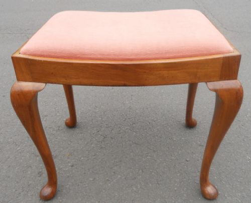 Mahogany Framed Dressing Stool with Drop In Seat
